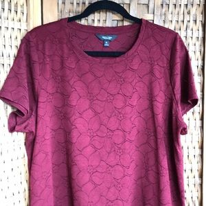 Simply Vera Wang Floral Lace Overlay Tee